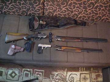 Kombinovana puška Brno i pištolj Zbrojowka