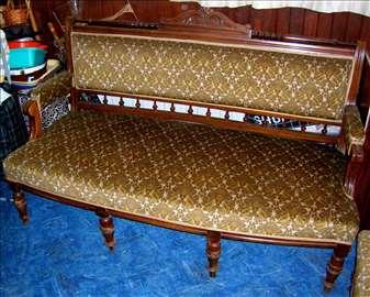 Alt dojch salonska garnitura, trosed i 4 fotelje