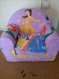 Dečije fotelje od sunđera princeze