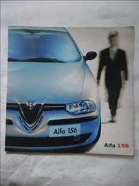 Prospekt Alfa 156, B 4, italijanski, 20 str.