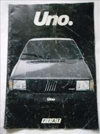 Prospekt Fiat Uno, A4, italijanski, 27 str.