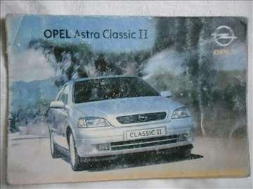 Prospekt Opel Astra Classic II, A5, 16 str, srpski