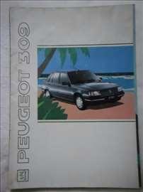Prospekt Peugeot 309, 1991, A4, 32 str, nemački