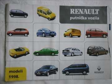 Prospekt Renault program 1998, srpski, A4, 8 str.
