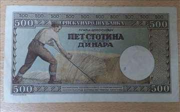 500 dinara 1942. XF