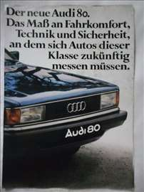 Prospekt Audi 80, 1978, A4, 8 str, nemacki