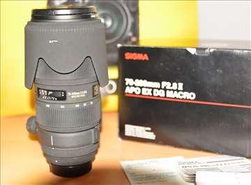 Sigma 70-200mm F2.8 II Apo EX DG Macro za Nikon