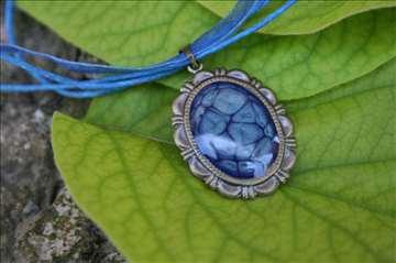 Mystic blue medaljon