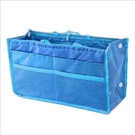Organizer torba u torbi - plava