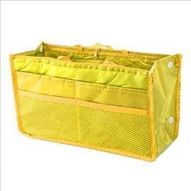 Organizer torba u torbi - žuta