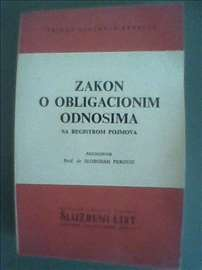 Zakon o obligacionim odnosima, sa registrom pojmov