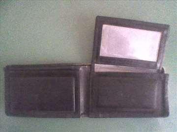 Novčanik kožni crni muški