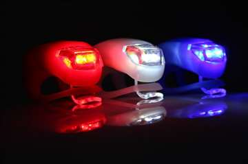Silikonska LED svetla sa dve snazne bele i crvene
