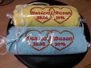 Svadbarski peškiri (datum ime po izboru, vezeno)