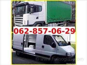 Prevoz robe i selidbe kombi vozilom i kamionima