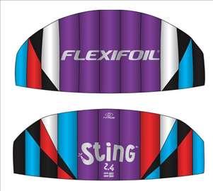 Flexifoil Sting 2.4m zmaj Power Kite, nov