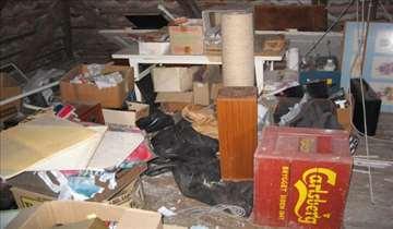 Čišćenje tavana, šupa, podruma...