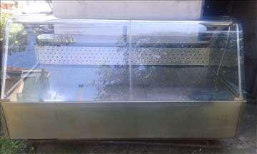 Rashladna vitrina 2m, rostfraj