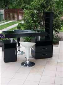 Crni LED sto sa LED osvetljenjem