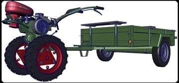 Motokultivator IMT 506SX i prikolica