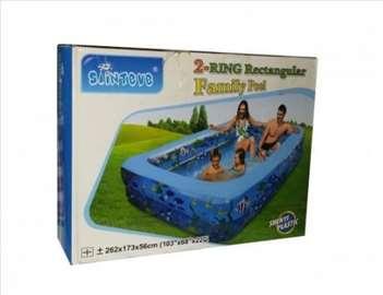 Veliki bazen 262cm x 173cm x 56cm - novo
