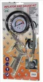 Pištolj za pumpanje guma sa manometrom