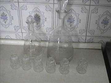 Set za rakiju, sirće, ulje, mleko i čaj