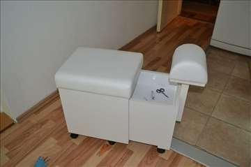 Pedikir stolica, radno mesto za pedikir, novo