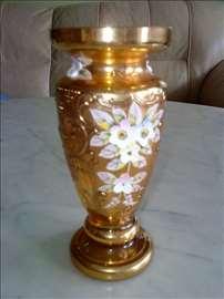 24k pozl. vaza od livenog češkog kristala