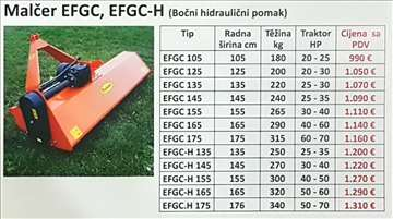 Malčer EFGC,EFGC-H bočni hidraulični pomak