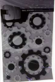 3D Stikeri za zid - zupčanici