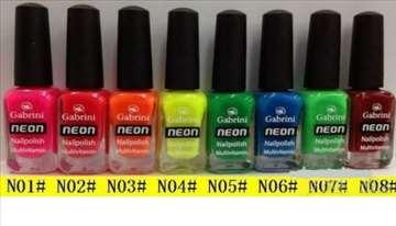 Neon lakovi za nokte, 5 komada