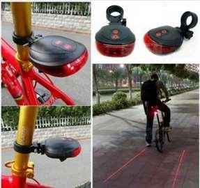 LED svetlo za bicikl sa laserom - novo
