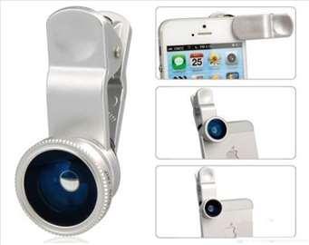 Objektivi 3u1 za mobilne telefone