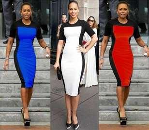 98) Dvobojna haljina  više boja