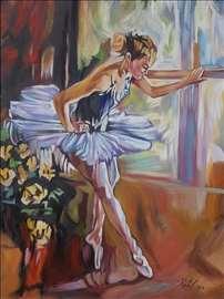 """""""Balerina"""" slika, ulje na platnu"""
