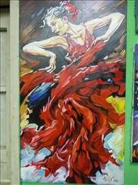 """""""Flamenko"""" slika, ulje na platnu"""