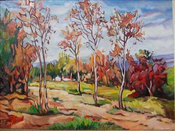 """""""Jesen"""" slika, ulje na platnu"""
