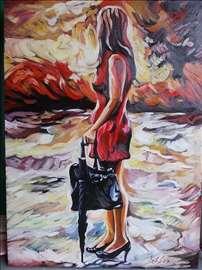 """""""Posle kiše"""" slika, ulje na platnu"""