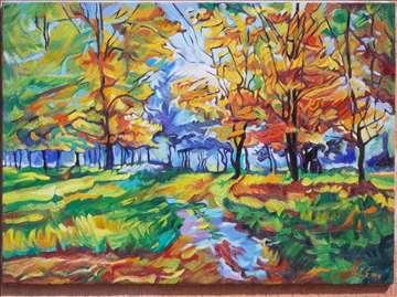 """""""Rana jesen u prirodi"""" slika, ulje na platnu"""