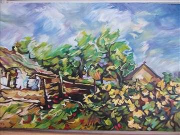 """""""Selo"""" slika, ulje na platnu"""