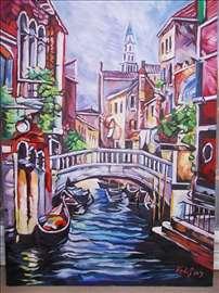 """""""Venecija 3"""" slika, ulje na platnu"""