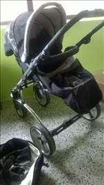 Bertoni Astra dečija kolica 2 u 1, crno-siva