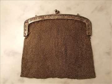 Srebrna damska torbica