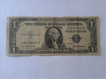 1. U. S Dollar 1935, silver certificate currency p