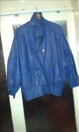 Ženska kožna jakna plava