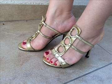 Ženske zlatne papuče br.36