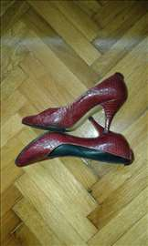 Zmijske cipele, ručna izrada, boja bordo br. 36
