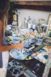 Pripreme iz slikanja atelje Vračar