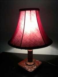 Noćna lampa, postolje mermer - mesing